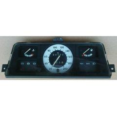 Armaturen Einsatz Opel Corsa A .2 Display weiß / schwarz 200 km/h / Tacho / Tank Anzeige / Temperatur Anzeige
