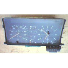 Armaturen Einsatz VW Derby 1 Display weiß 200 km/h / Tacho / Tank Anzeige / Temperatur Anzeige + WL / Uhr / Ta