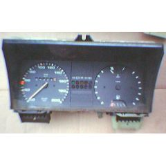 Armaturen Einsatz VW Golf 2 / Jetta 2 Display weiß 200 km/h / Tacho / Tank Anzeige / Temperatur Anzeige + WL -
