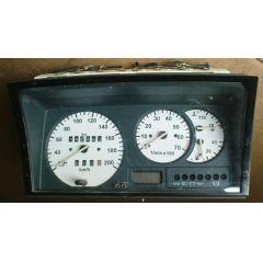 Armaturen Einsatz VW Polo 86 C .2 / Derby 2 Display weiß / schwarz 200 km/h / Tacho / Tank Anzeige / Temperatu