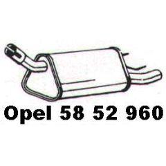 NEU + Endschalldämpfer Opel Corsa B 1.0 * / 1.1 / 1.3 / 1.4 nicht 16 V oder Combo * / 1.5 D / 1.5 TD / 1.7 D -
