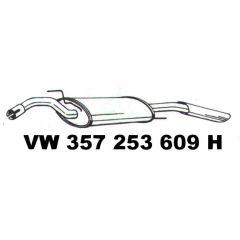 NEU + Endschalldämpfer VW Passat 35i / B4 VR6 - VAG / VW 9.88 - 8.96 - Schalldämpfer Abgasanlage / Auspuff + +