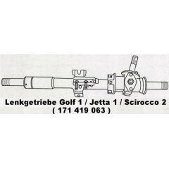 NEU + Lenkgetriebe VW Golf 1 / Cabrio / Caddy / Jetta 14 / 15 / 16 / 17 - VAG / VW / Audi 9.73 - 8.90 - Modell