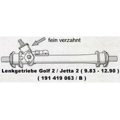 Lenkgetriebe VW Golf 2 / Jetta 2 19 .1 feinverzahnt - VAG / VW / Audi 9.83 - 8.90 - Seat Toledo 19 .1 feinverz