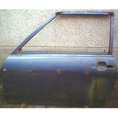 Tür VW Polo / Derby / Audi 50 \* 86 .2 2 / 3T / L blau met. - 9.73 - 8.83 - gebraucht