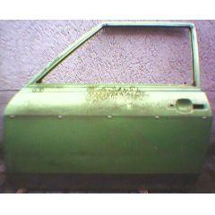 Tür VW Polo / Derby / Audi 50 \* 86 .2 2 / 3T / L grün met. - 9.73 - 8.83 - gebraucht
