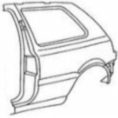 NEU + Seitenteil VW Golf 3 1H0 3 Türer / L mit Rahmen - VAG 9.91 - 8.96 - Kotflügel Hinten + Original + + + NE