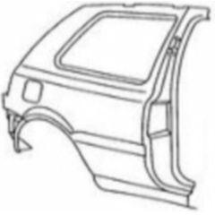NEU + Seitenteil VW Golf 3 1H0 3 Türer / R mit Rahmen - VAG 9.91 - 8.96 - Kotflügel Hinten + Orig - 1H3809844B