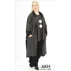 Lagenlook Mantel Kapuze AKH Fashion
