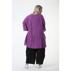 Leinen-Tuniken raffinierter Rücken 5 Farben