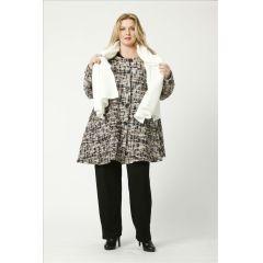 glockige Lagenlook Jacken mit Wolle