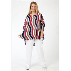 überweite Lagenlook Big-Shirts multicolor