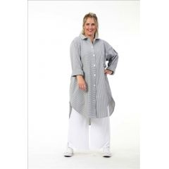 Baumwoll Blusen-Jacken grau große Größen
