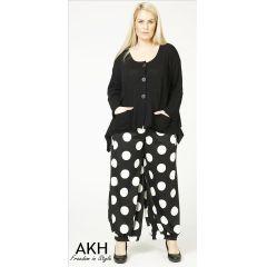 Lagenlook Hose große Punkte AKH Fashion