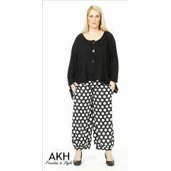 Lagenlook Hose kleine Punkte AKH Fashion