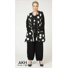 Lagenlook Jacke große Punkte - AKH Fashion