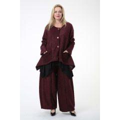 zipfelige Lagenlook Boucle-Jacken 4 Farben große Größen