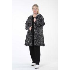 elegante Kapuzen-Jacken schwarz-weiß