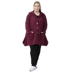 warme Kapuzen-Jacken geflockt große Größen