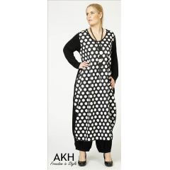 Lagenlook Kleid kleine Punkte AKH Fashion