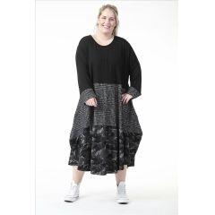 Lagenlook Kleider Herbst Winter Materialmix