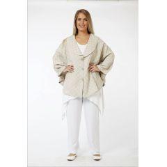 Lagenlook Jacken Leinen-Baumwolle überweit