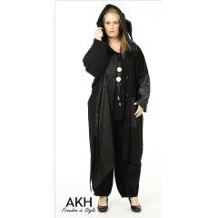 Lagenlook Mantel mit Zipfelkapuze AKH Fashion