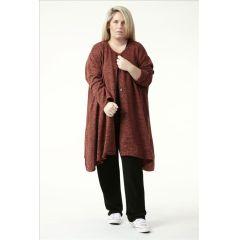 Lagenlook Oversized Jacken Strickoptik