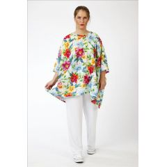 überweites Lagenlook Shirt Blütenzauber