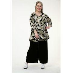 Slinky-Shirts schwarz-khaki Kamouflage
