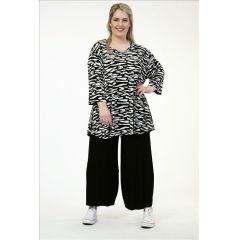 Slinky-Shirts schwarz-weiß Zebra