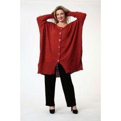 weite Lagenlook Oversize-Strickjacken Baumwolle viele Farben