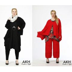AKH Fashion Lagenlook Strickjacke Baumwolle