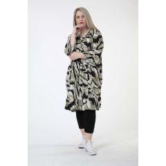 Lagenlook Tunika-Kleider Volants große Größen