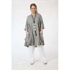 Lagenlook Tunika-Kleider Baumwolle-Viskose 3 Farben