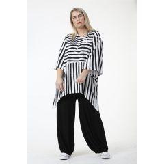 Lagenlook Tuniken schwarz-weiss Baumwolle