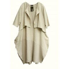Lagenlook Kleid und Jacke Leinenanteil - reduziert