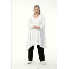 elegante Lagenlook Jacken off white-schwarz