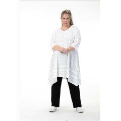 elegante weiße Lagenlook Tunika-Kleider
