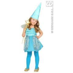 Kinderkostüm - Fee blau - Körpergröße ca. 98-104 cm