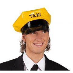 Hut - Mütze - Taxi (Erwachsene) schwarz/gelb - SONDERPREIS