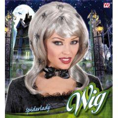 Perücke mit Spinnen - Spiderlady - Spinnenfrau - Karneval / Fasching