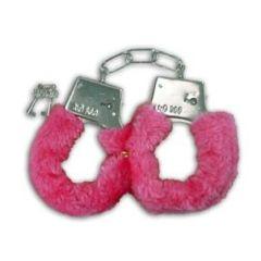 Plüschhandschellen - rot - rosa - in Box - mit Schlüssel **bild**