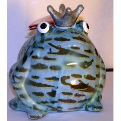 Pomme-Pidou Frosch hellblau mit Krokodil, Spardose
