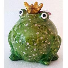 Pomme Pidou Frosch Freddy, Greenline, Design Wiese mit weisen Blumen