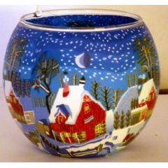 Kerzenfarm Leuchtglas Winternight in Canada, Größe 11 cm, Teelicht