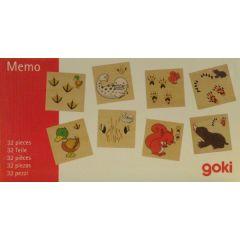 Memo Spiel Fährtensuche, 32 Spielsteine aus Holz