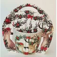 Jameson und Tailor, Weihnachtsbecher Hirsch 0,45 Liter, Mit dekorativer Geschenkverpackung