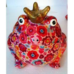 Pomme Pidou Frosch Freddy, Pink Edition, Design Blumen