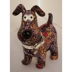 Pomme Pidou Hund Hugo Design Graffiti Figuren dunkel